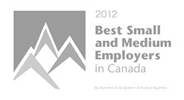 Imaginet - 2012 Best Small and Medium Employer in Canada Award