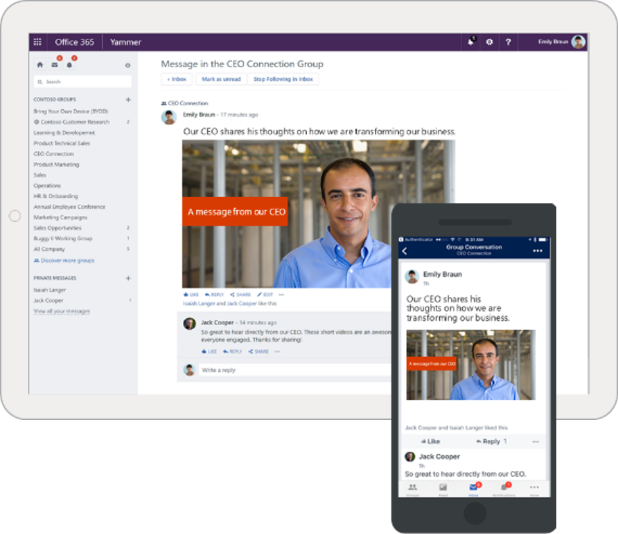 Connect everyone in your organization with modern tools using O365