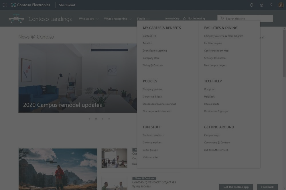 Better Organize Your Sites with SharePoint Megamenus