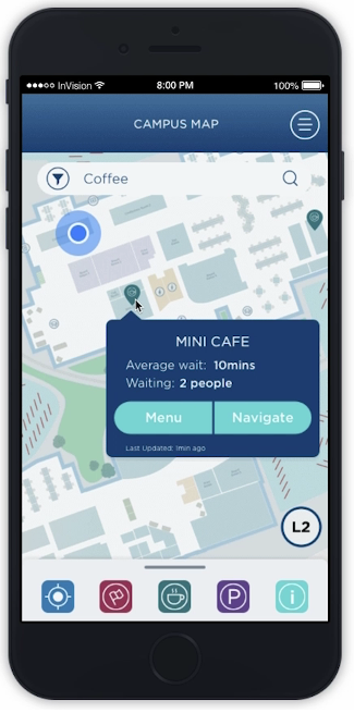 Imaginet Campus Wayfinding Mobile App Solution - Find Amenities