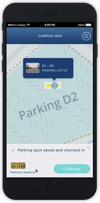 Imaginet Campus Wayfinding Mobile App Solution - Find and Save Parking