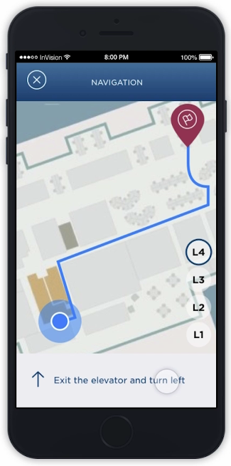 Imaginet Campus Wayfinding Mobile App Solution - Get Directions