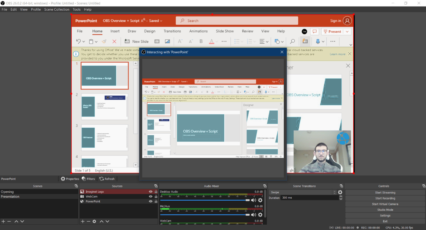 Use OBS Studio to take your Microsoft Teams Live Event to the next level with a long list of different customizations.